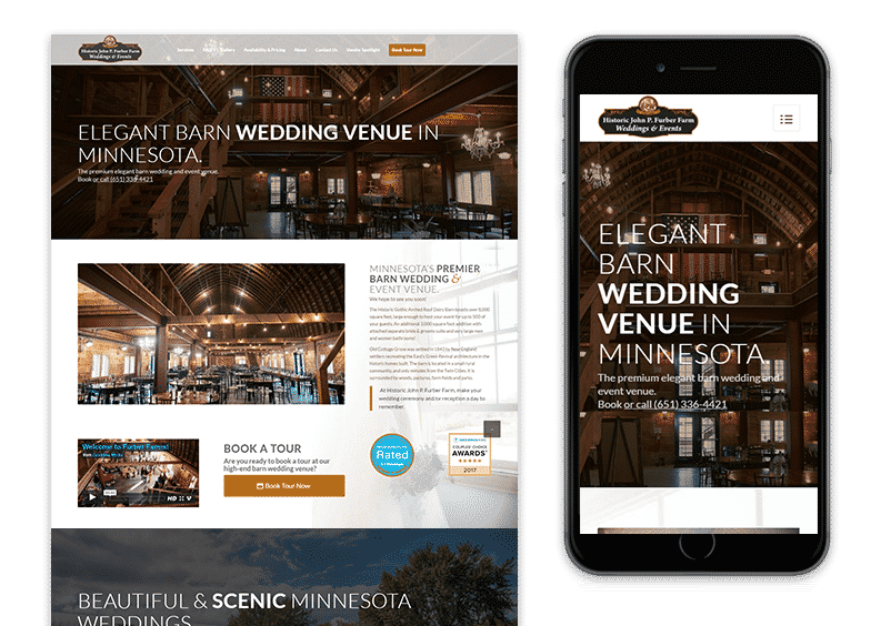 Furber Farms WEdding and Event Center Web Design