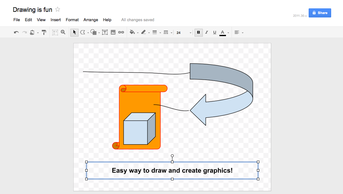 Shapes and drawings in Google Docs Drawings