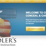 Chandler Conceal and Carry Homepage Web Design