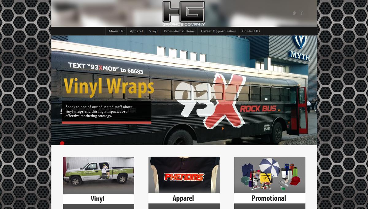 HG Graphics website design