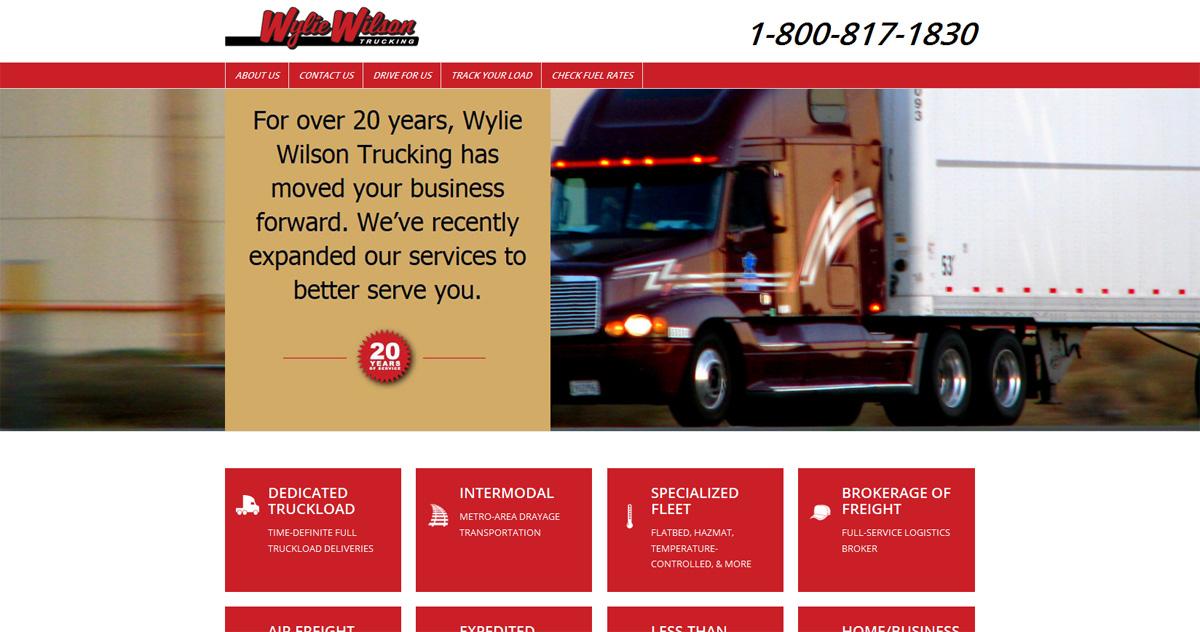 Wylie Wilson Trucking Website Design