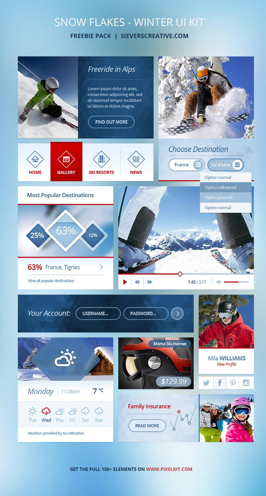 Winter GUI Kit Freebie