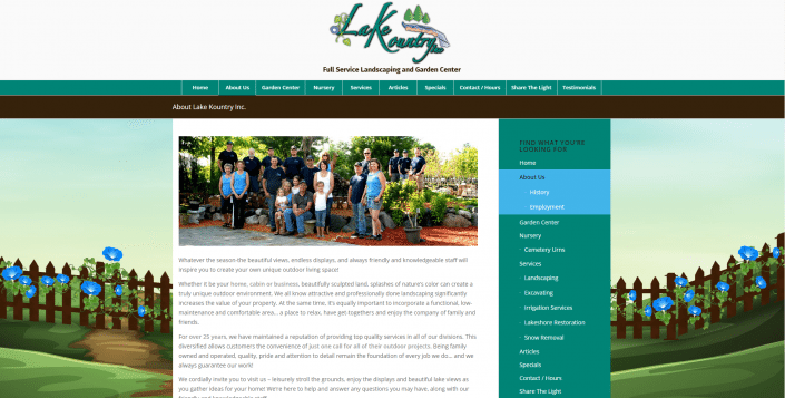 Garden Center Website Design in New Richmond WI