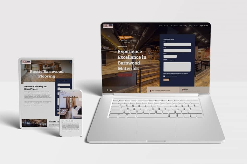 Forever Barnwood Website Design Example
